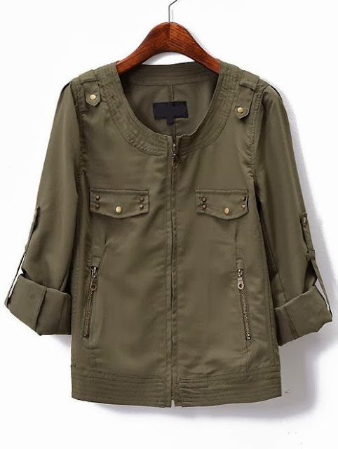 Army color blouse for women