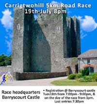 Annual 5k race in Carrigtwohill in E.Cork...Wed 19th July 2017