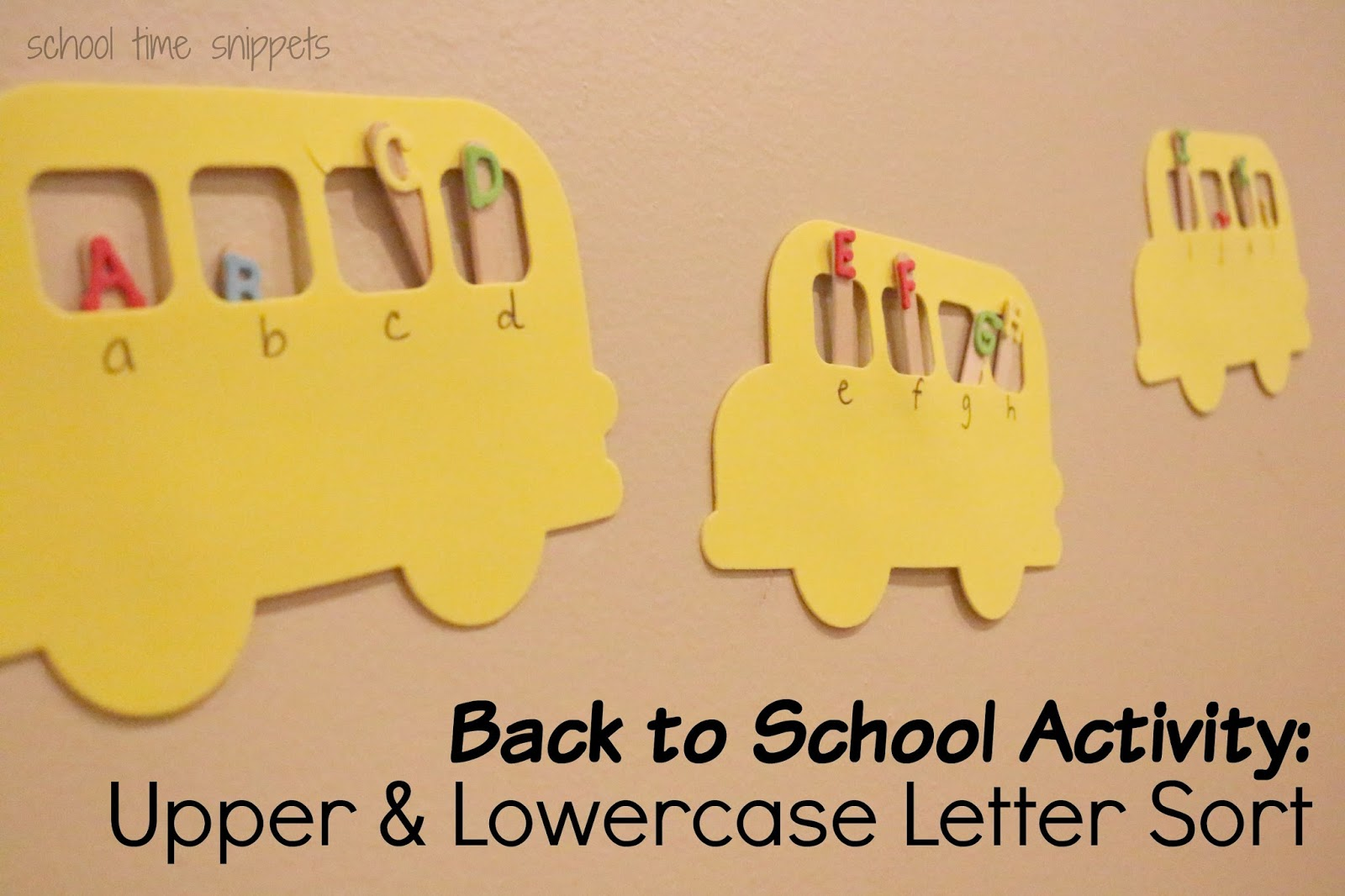 back to letter matching activity time snippets