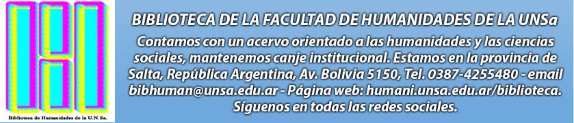 Biblioteca de Humanidades de la UNSa. - Argentina