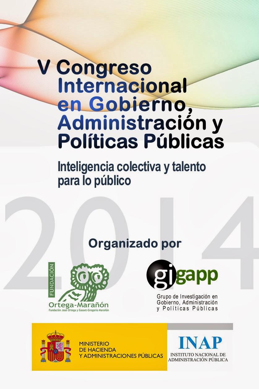 Invitación al V Congreso Internacional en Gobierno, Administración y Políticas Públicas