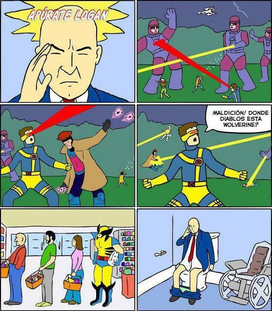 ¿¡Wolverine, por que tardas!? xmen Charles xavier, centinelas sin papel higienico
