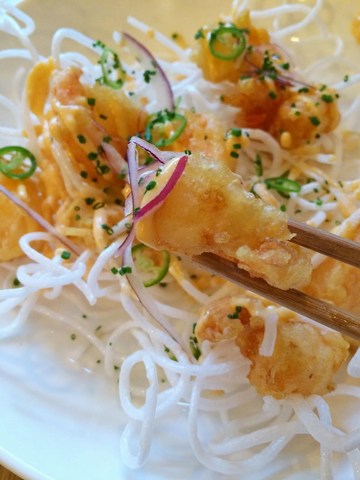 kurobuta baby shrimp tempura