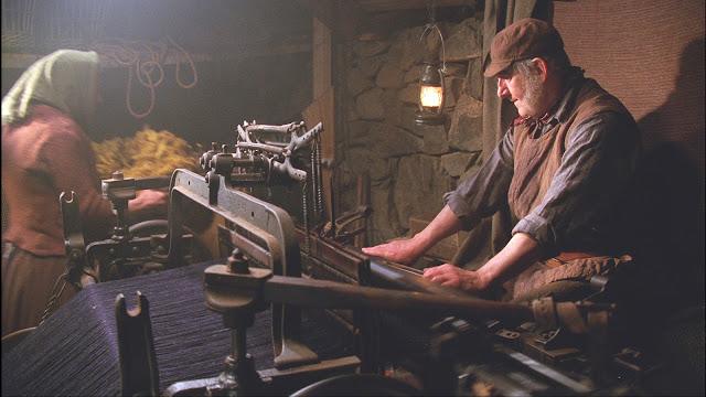 Ręczny warsztat tkacki w Szkocji