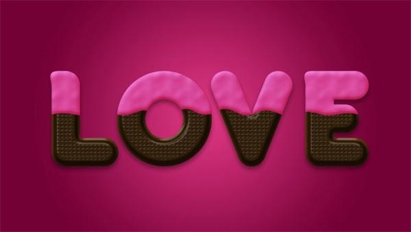 Membuat Teks Efek Chocolate di Photoshop untuk Hari Valentine.