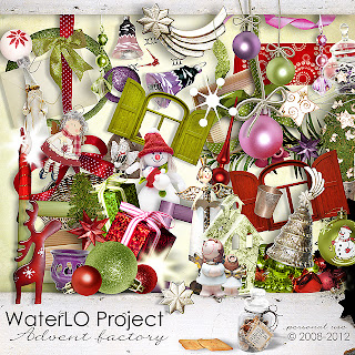 Free digital scrapbook winter/christmas from WaterLo Project