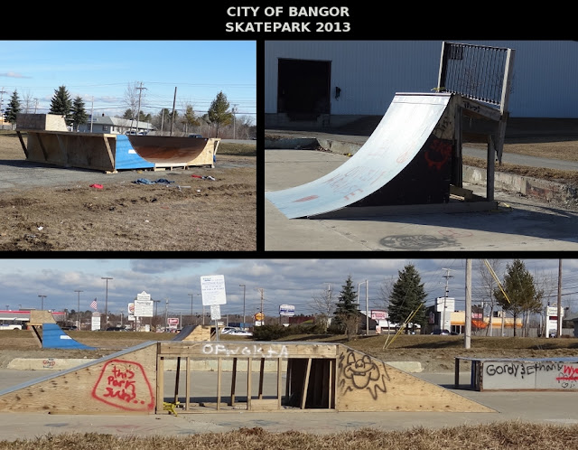 City of Bangor Maine,Skatepark,Postcard,Maine_Ave,Union_Street