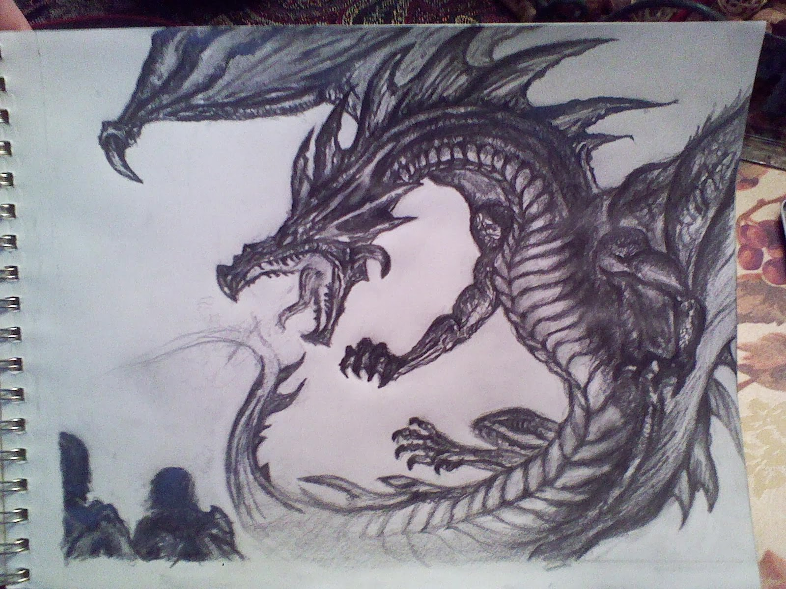 how to draw a cool fire breathing dragon
