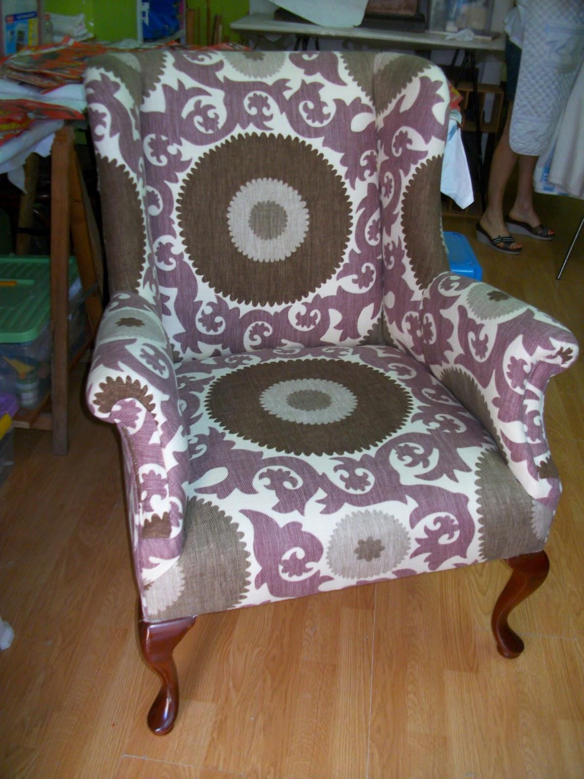 El blog de la restauradora tapizado de un sill n orejero - Tapizar un sillon orejero ...
