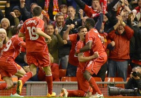 Capital One : Liverpool vs Swansea City 2-1