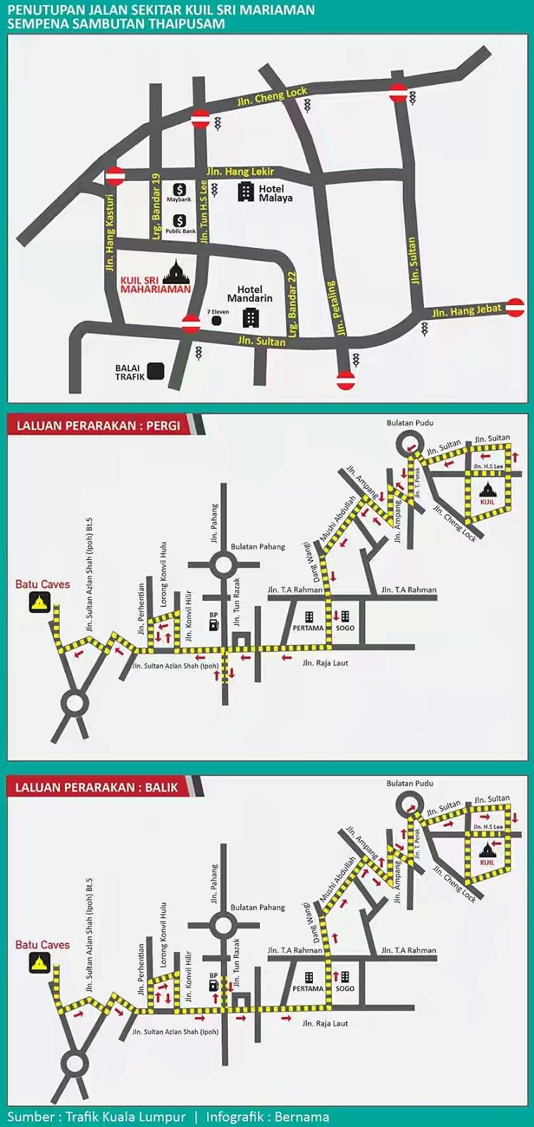 Jalan-tutup-di-kl-sempena-thaipusam