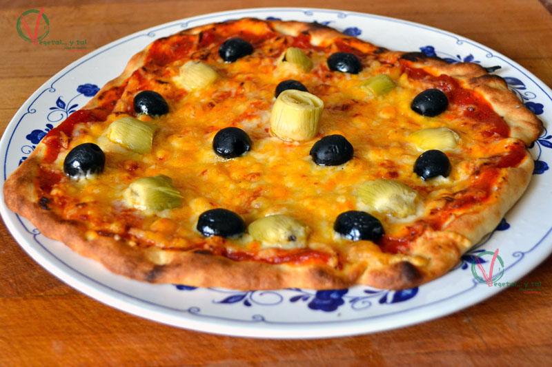 Vegetal y tal masa para pizza sin amasar for Utensilio para amasar