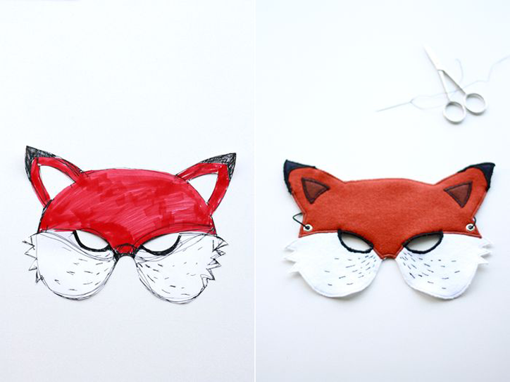 Party Animal bookhoucraftprojects fox mask