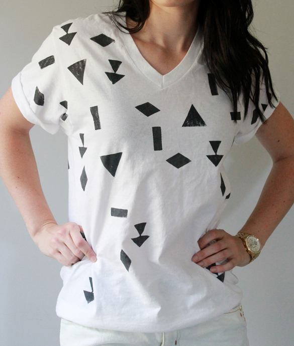 The forge diy t shirt make over part ii printed geo shirt for Diy tee shirt printing