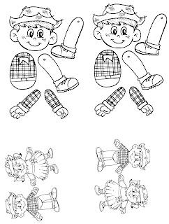 Bonecos desenhos para pintar e imprimir na educação infantil