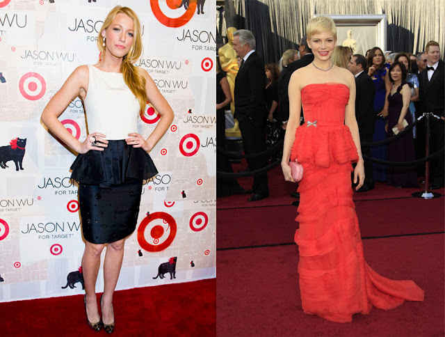 Famosas peplum Blake Lively y Michelle Williams