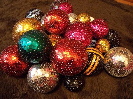 Bolas De Corcho Decoradas Botones Navidad