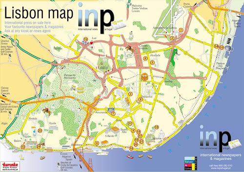 Mapa da área metropolitana de Lisboa – Portugal