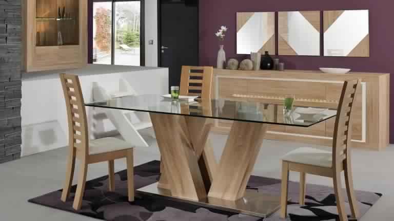 Salle manger en bois salle manger - Modele de salle a manger en bois ...