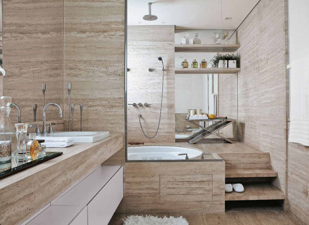 Banheiros com Banheiras! 30 Modelos maravilhosos!  DecorSalteado -> Fotos De Banheiro Com Banheira De Canto