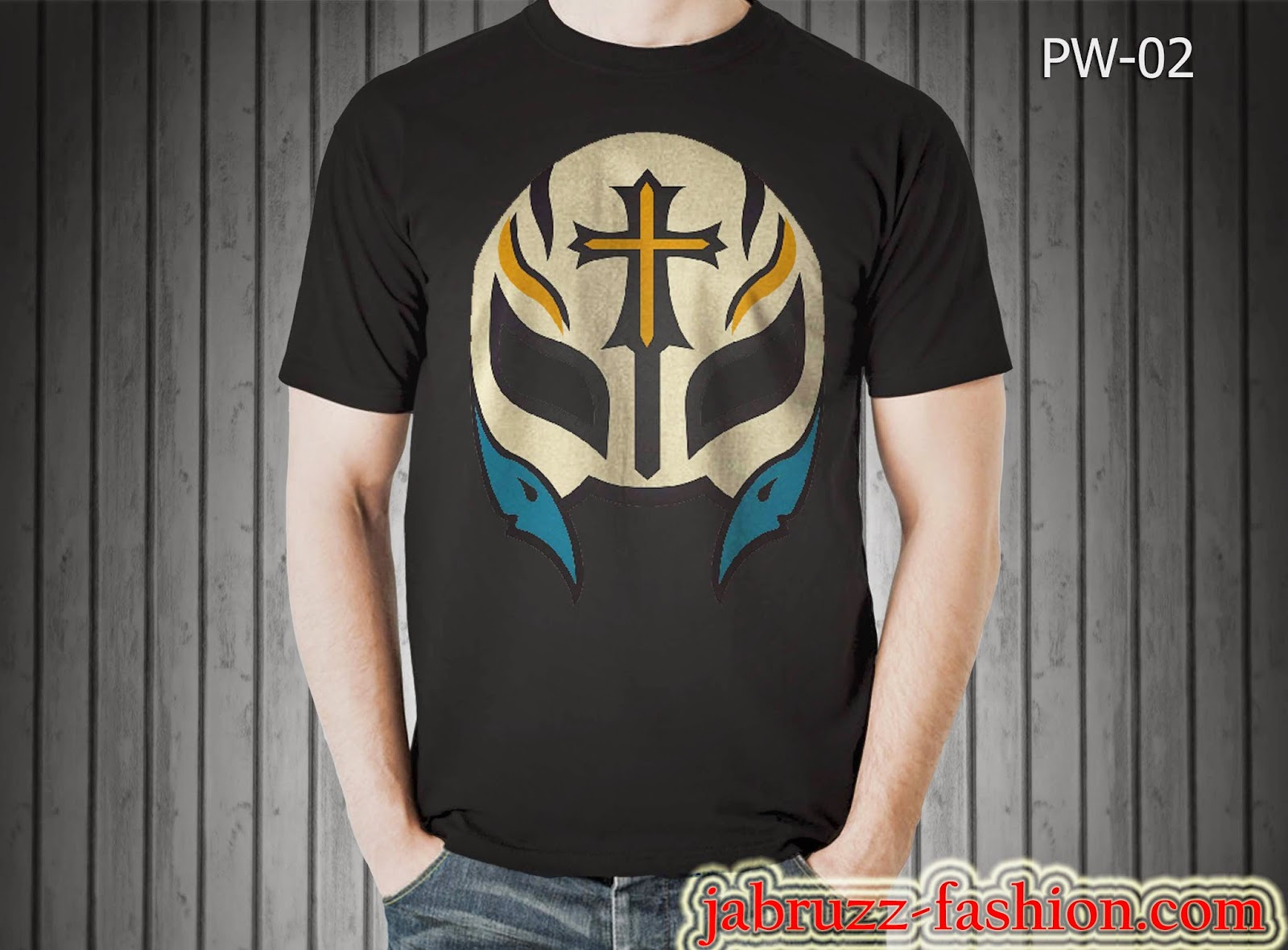 Kaos/T-shirt WWE Topeng Rey Mysterio