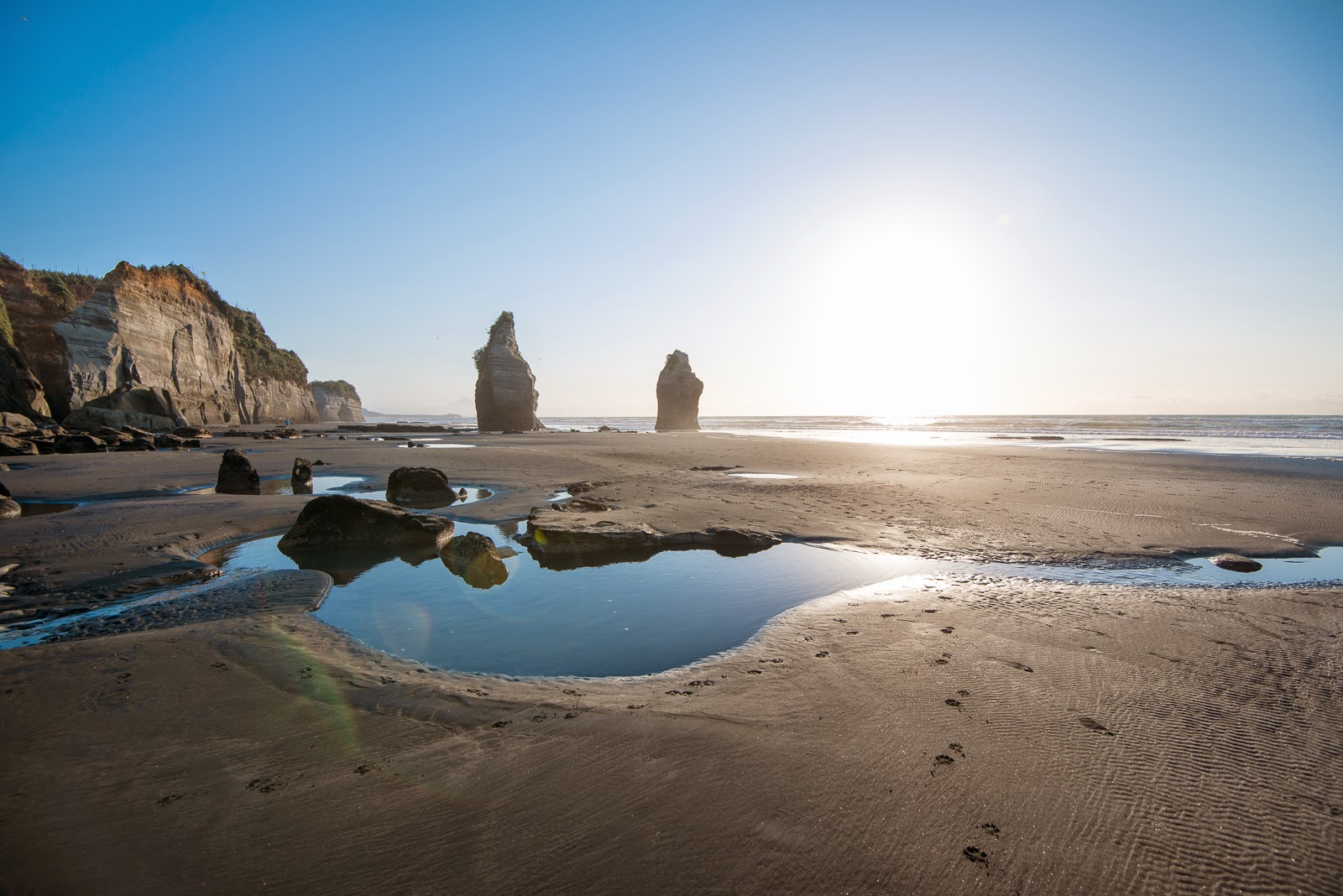 The Three Sisters rock pools