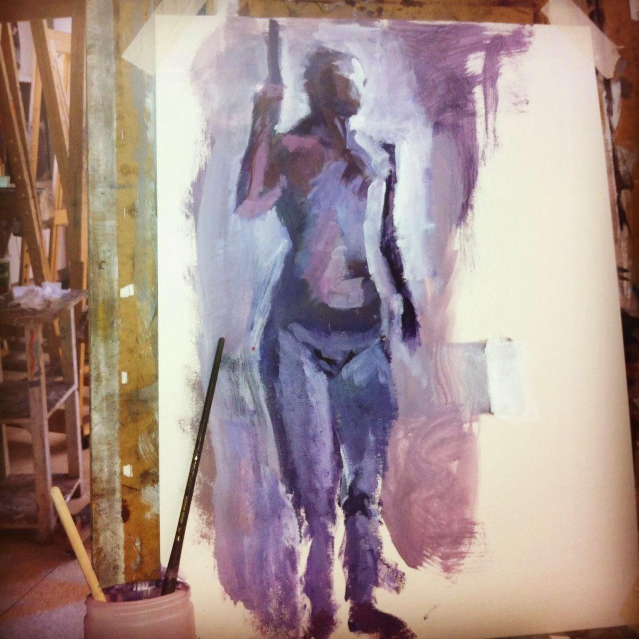 figure painting, ocad, acrylic