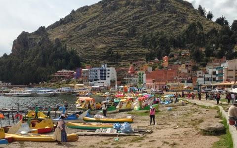 copacabana lake titicaca bolivia
