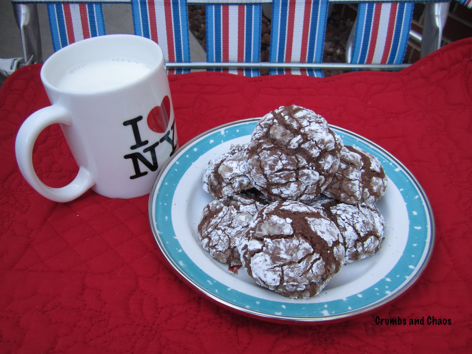 Chocolate Crackle Cookies - Crumbs and Chaos