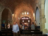 Interior de l'església de Sant Martí de Riells