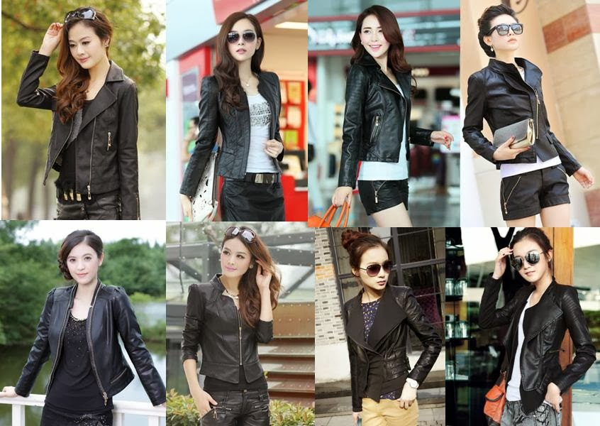 Black PU Leather Jackets