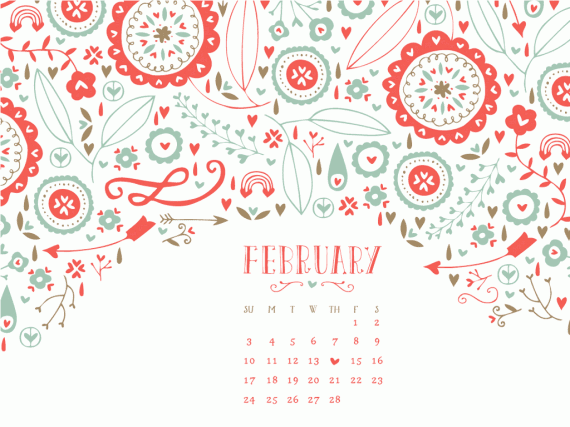 february 2013 desktop calendar wallpaper
