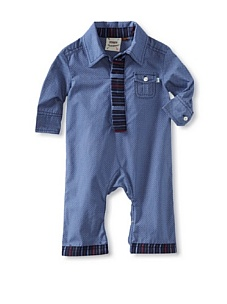 MyHabit: Save Up to 60% off Fore!! Axel + Hudson: Diamond Print with Tie Placket Woven Polo Romper - Business as usual with this tie-placket woven romper, snap closure