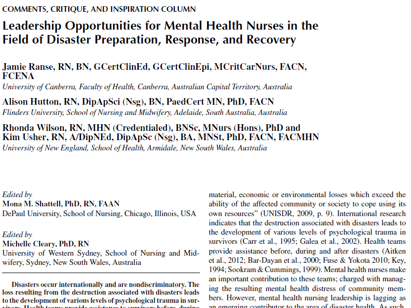 Leadership Opportunities For Mental Health Nurses In The Field Of