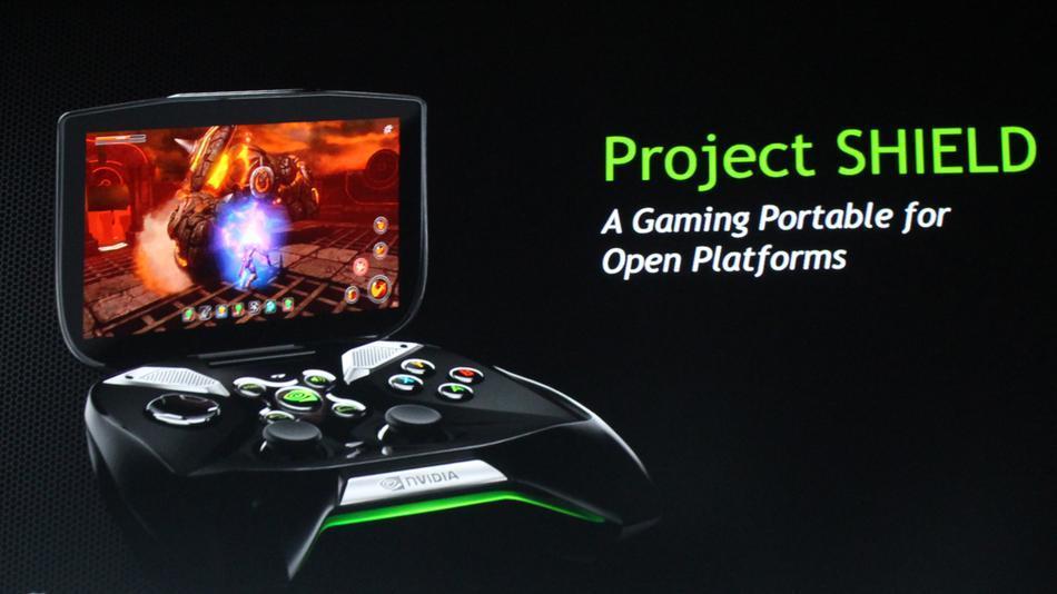 Jugando en el Project Shield de Nvidia en vídeo