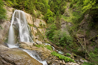 Image of Dard waterfall in the mountains of Massif des Bornes