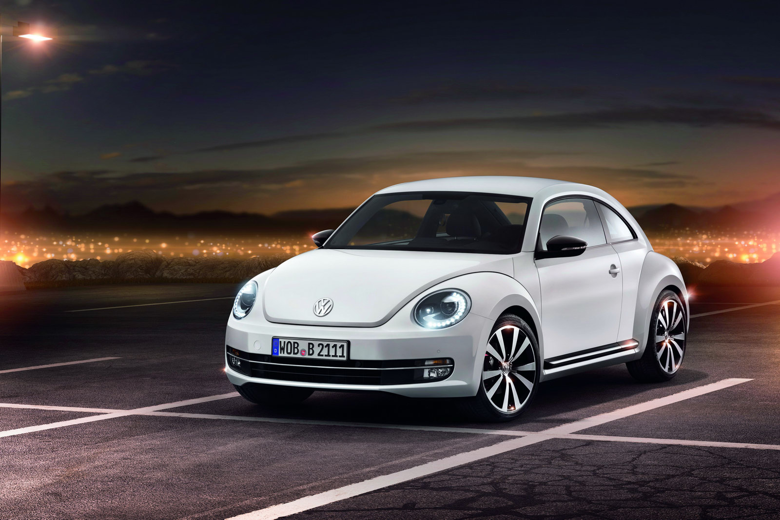 The Beetle features a glossy
