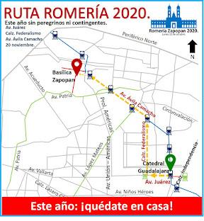 Ruta Romería Zapopan 2020.