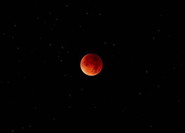 Das Bild des Tages: Blutmond von André Duhme - Atomlabor Blog Fotokunst - Mond