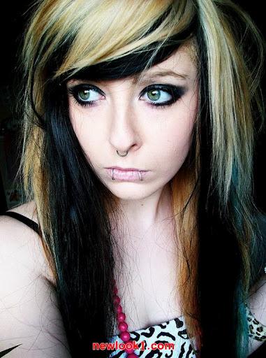 Teenage Girls Emo Hairstyles for Long Hair