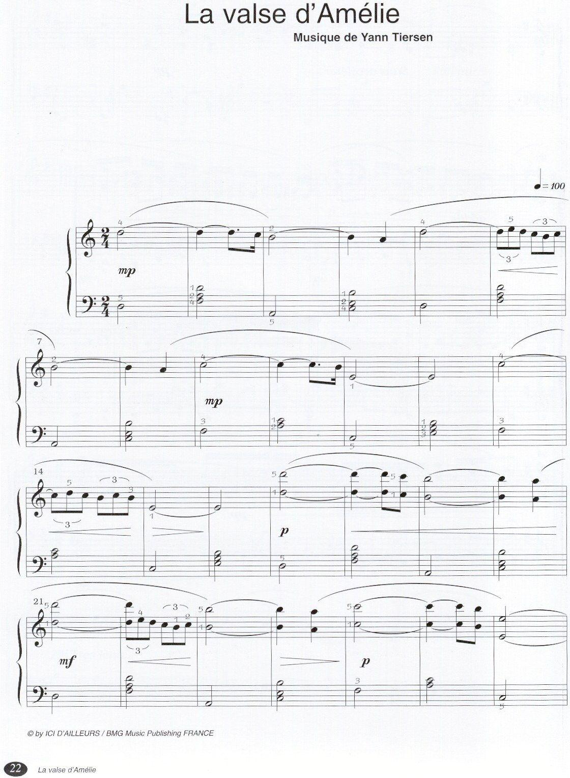 Yann tiersen - labsente - ноты