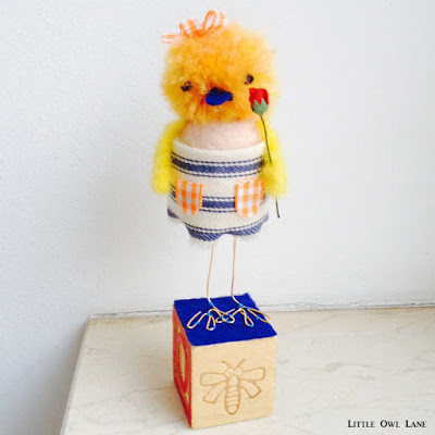 Szilla the Duck #2 Original Sculpture by Lady Lucas $34