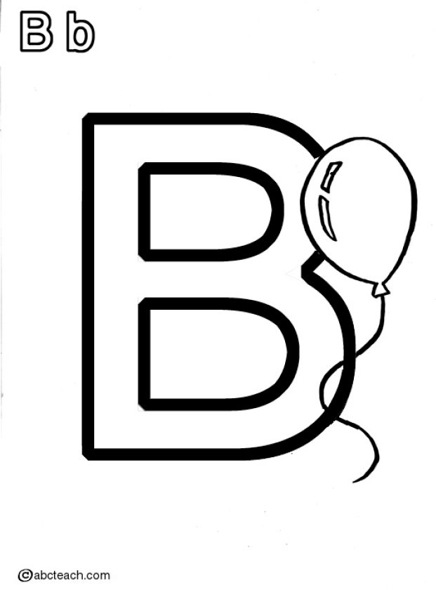 Bb Balloon Coloring Page