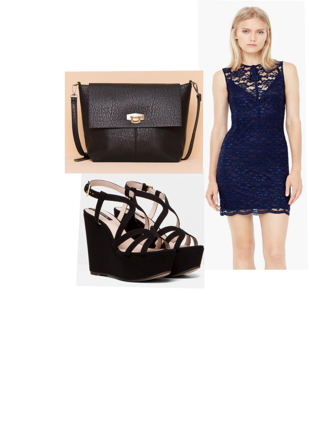 Zapatos para vestido fiesta azul marino