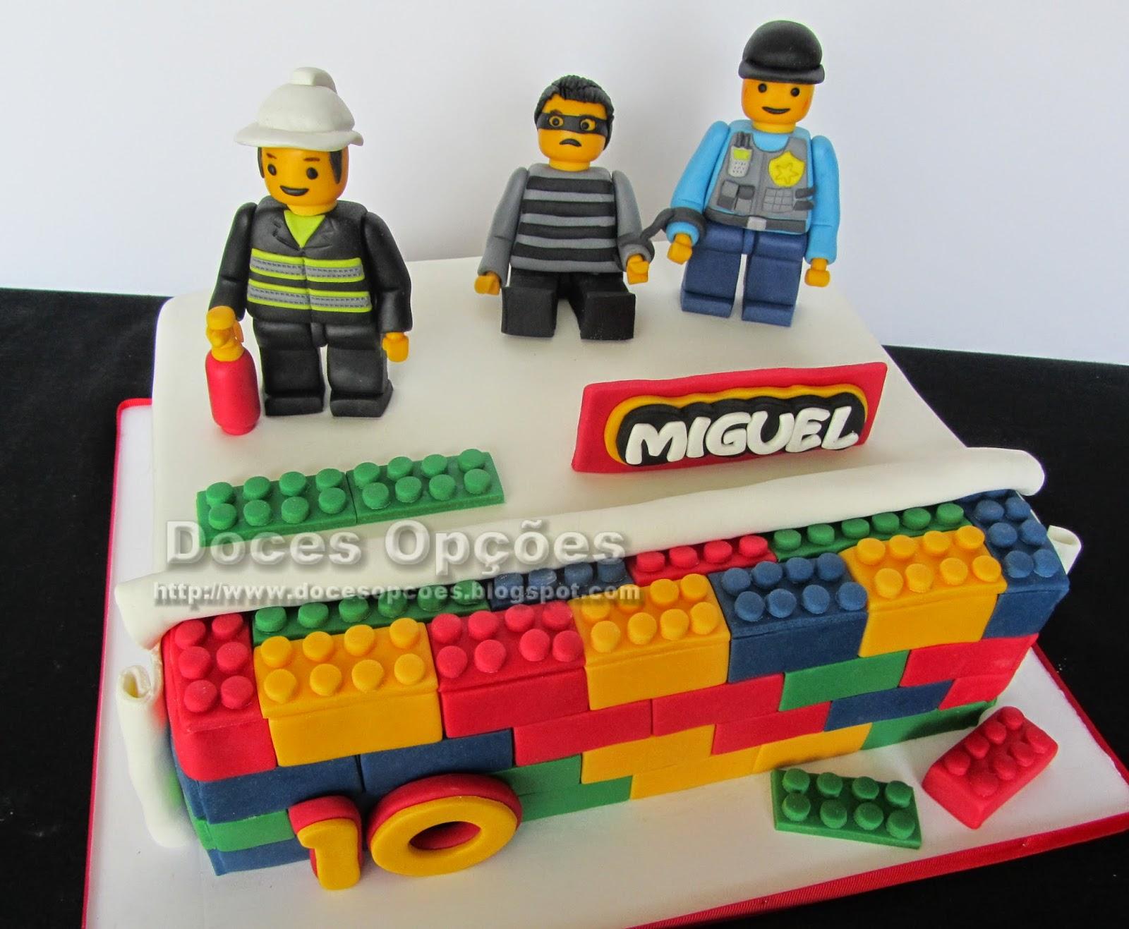 bolo aniversário lego city