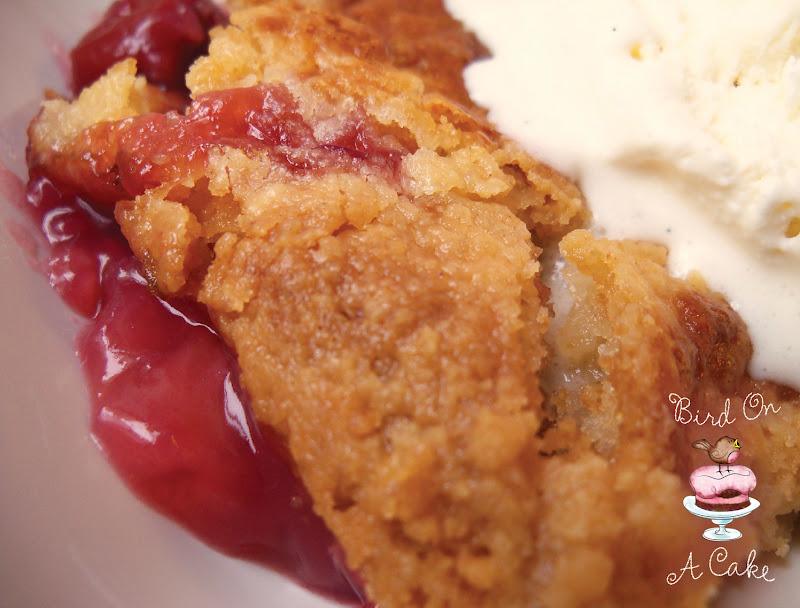 Bird On A Cake: 4 Ingredient Cherry Crumble {aka Dump Cake}