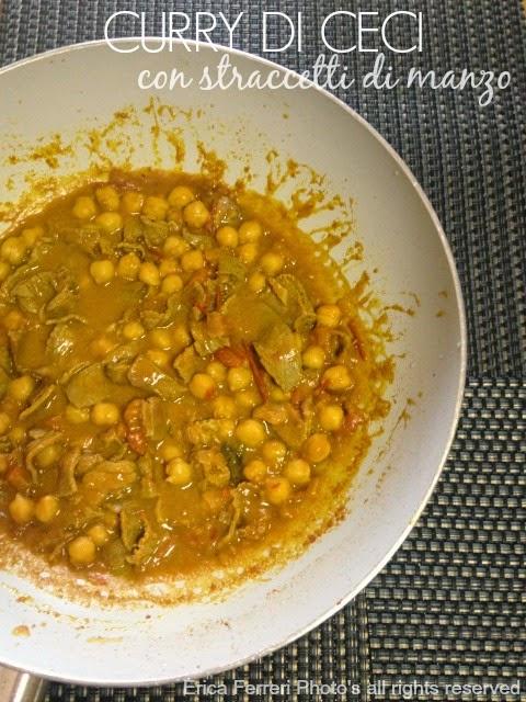 Curry di ceci con straccetti di manzo - Ricetta indiana