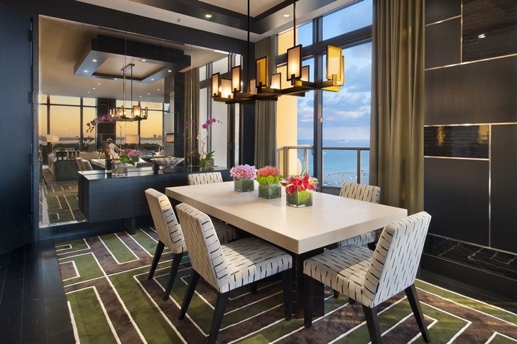 Dining room in Miami Beach Penthouse