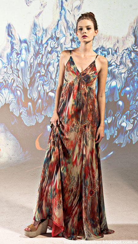 Vestidos largos de fiesta 2015 Mancini, Moda 2015.