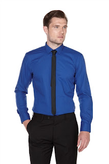 Skopes Slim Fit Shirt With Skinny Tie Set